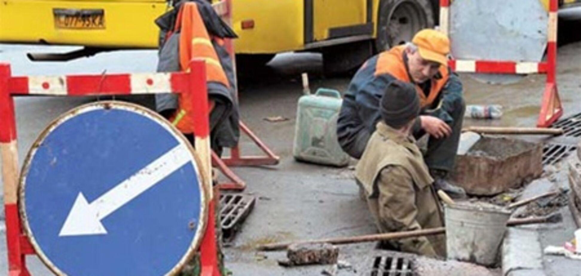 В Киеве подлатают дороги
