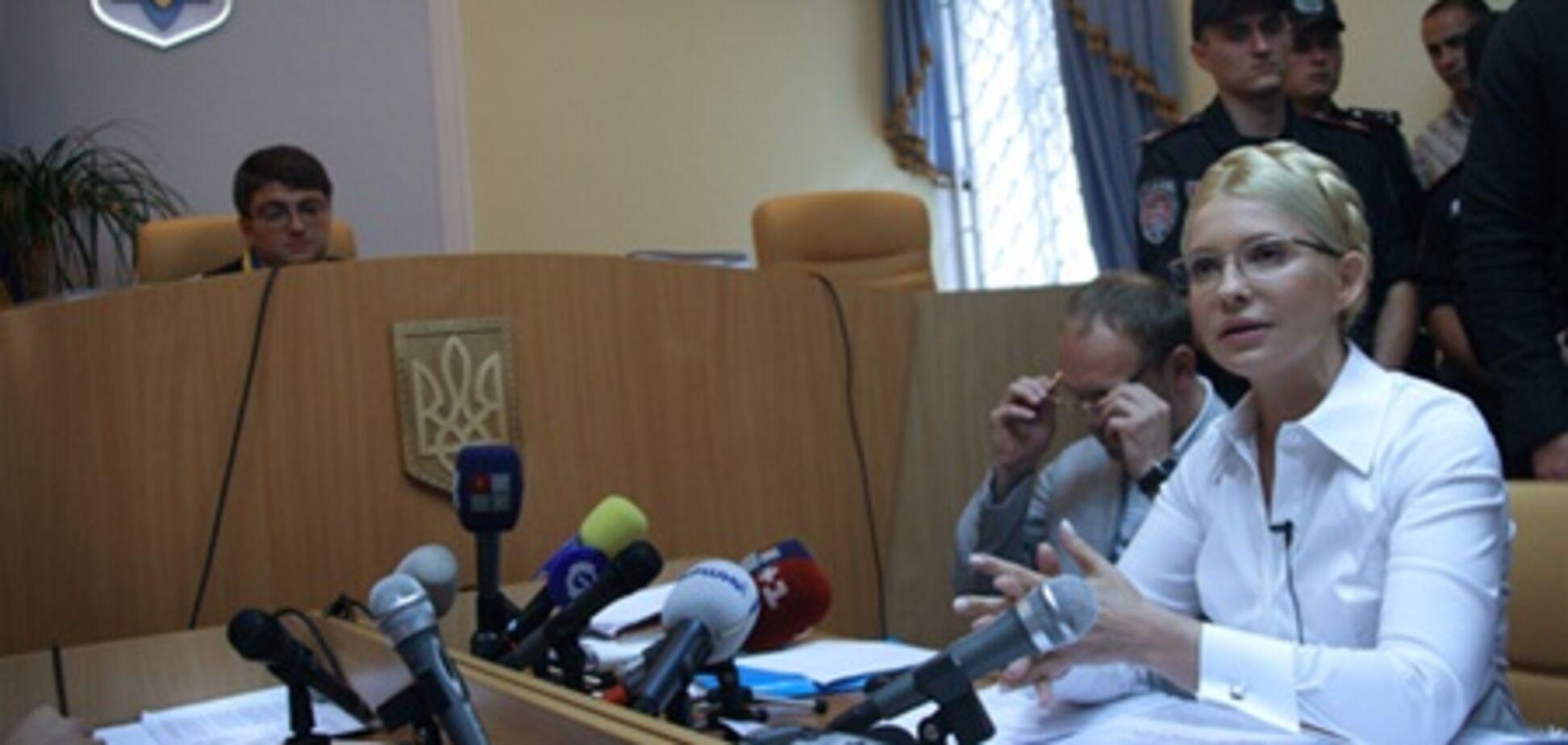 Суд разрешил Тимошенко взять обеденный перерыв