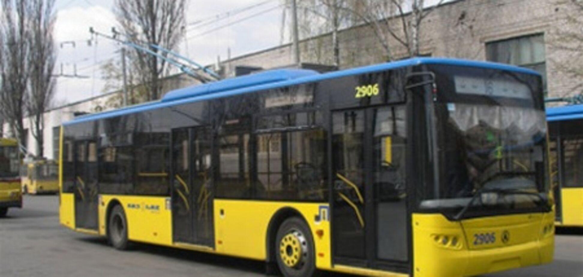 В Киеве троллейбусы заменят автобусными маршрутами
