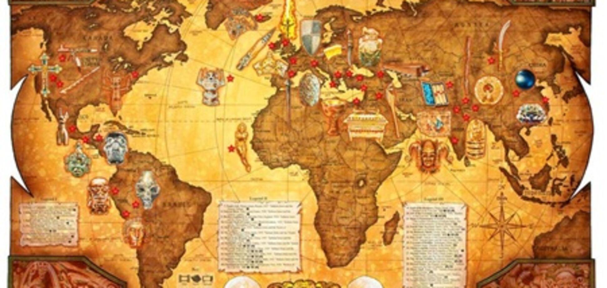 В США создали карту приключений Индианы Джонса