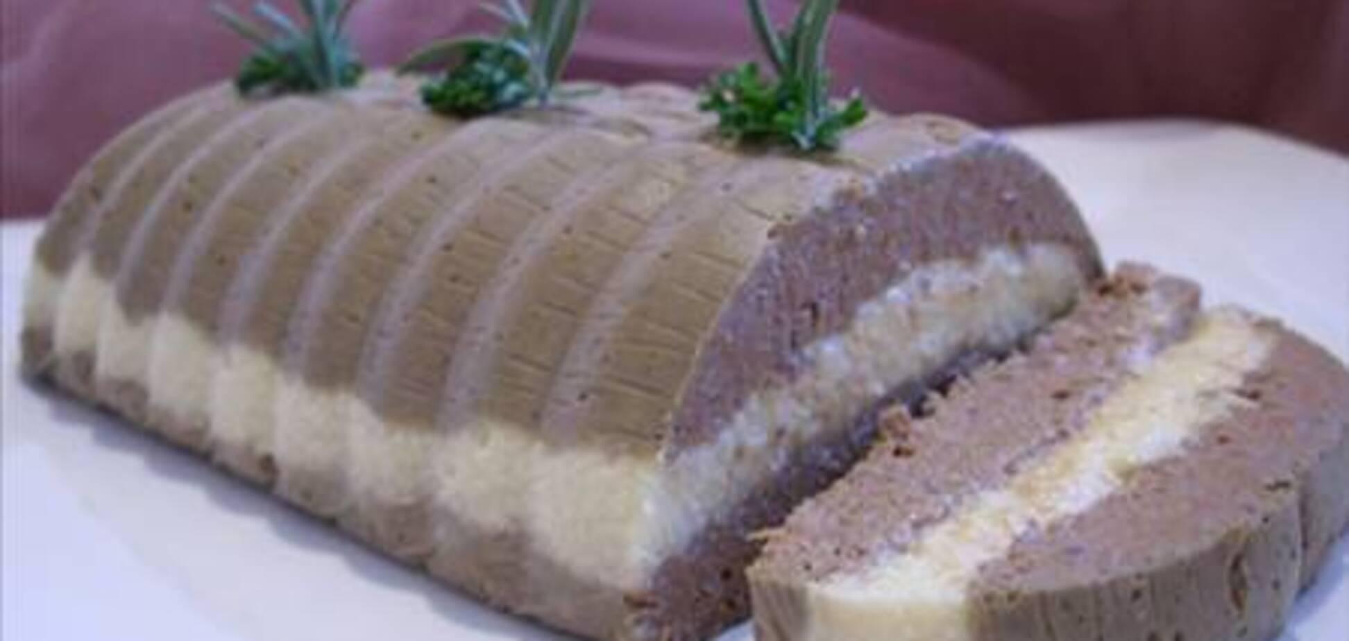 Паштет с куриной печенью и сыром