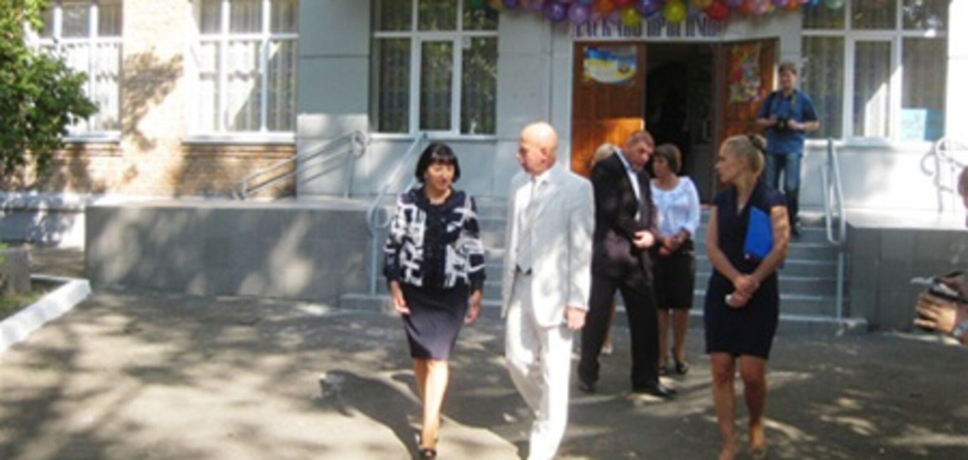 Герега подарила киевской школе полмиллиона