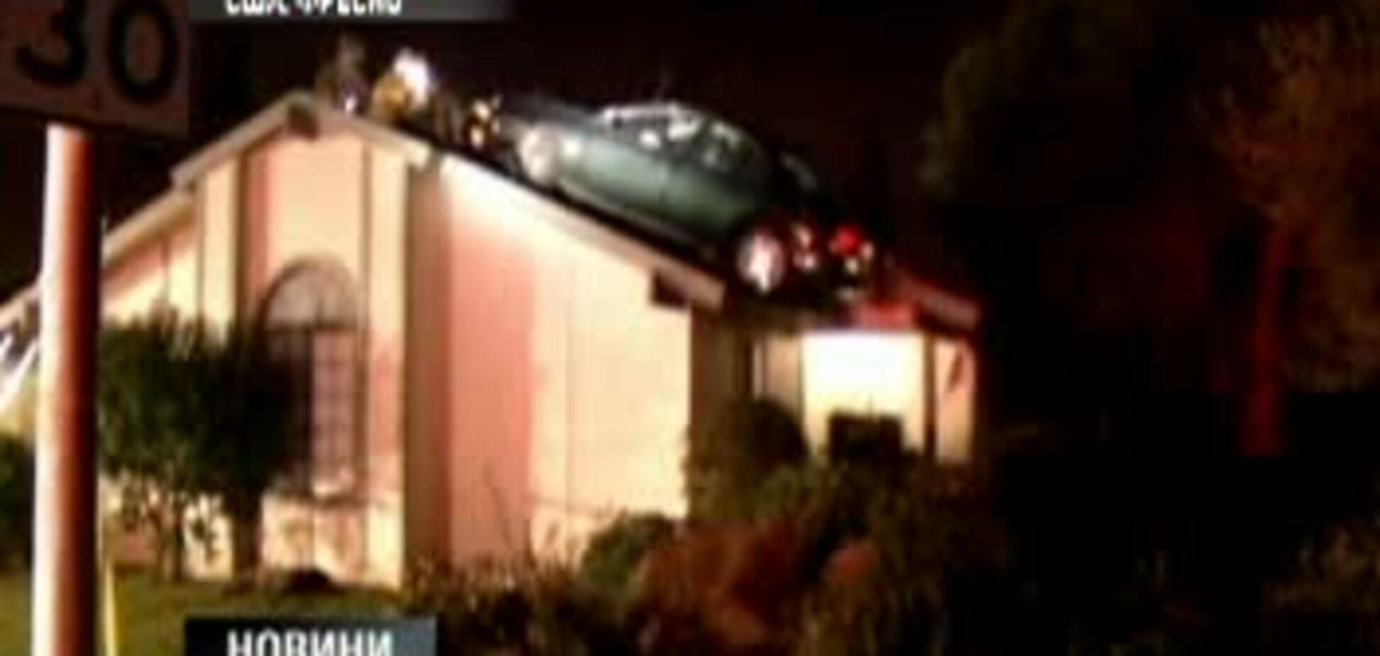 Крадій припаркував авто на даху