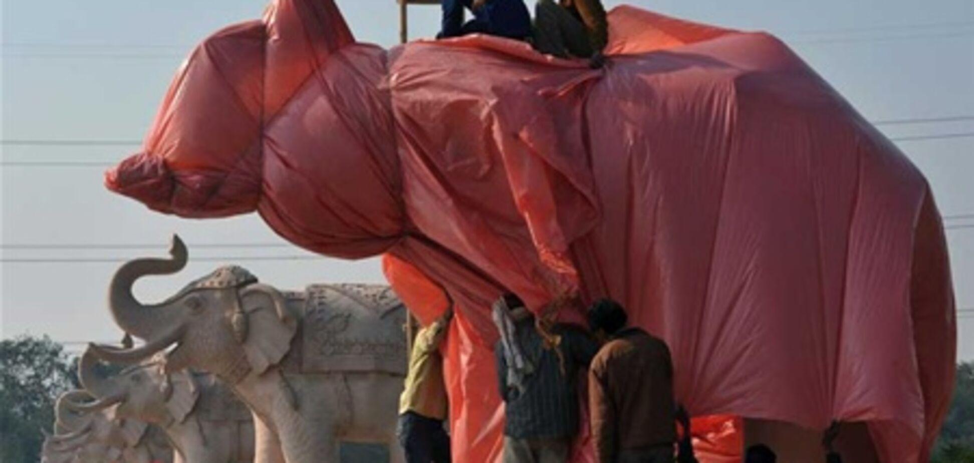 В Индии статуи слонов сочли наглядной политической агитацией