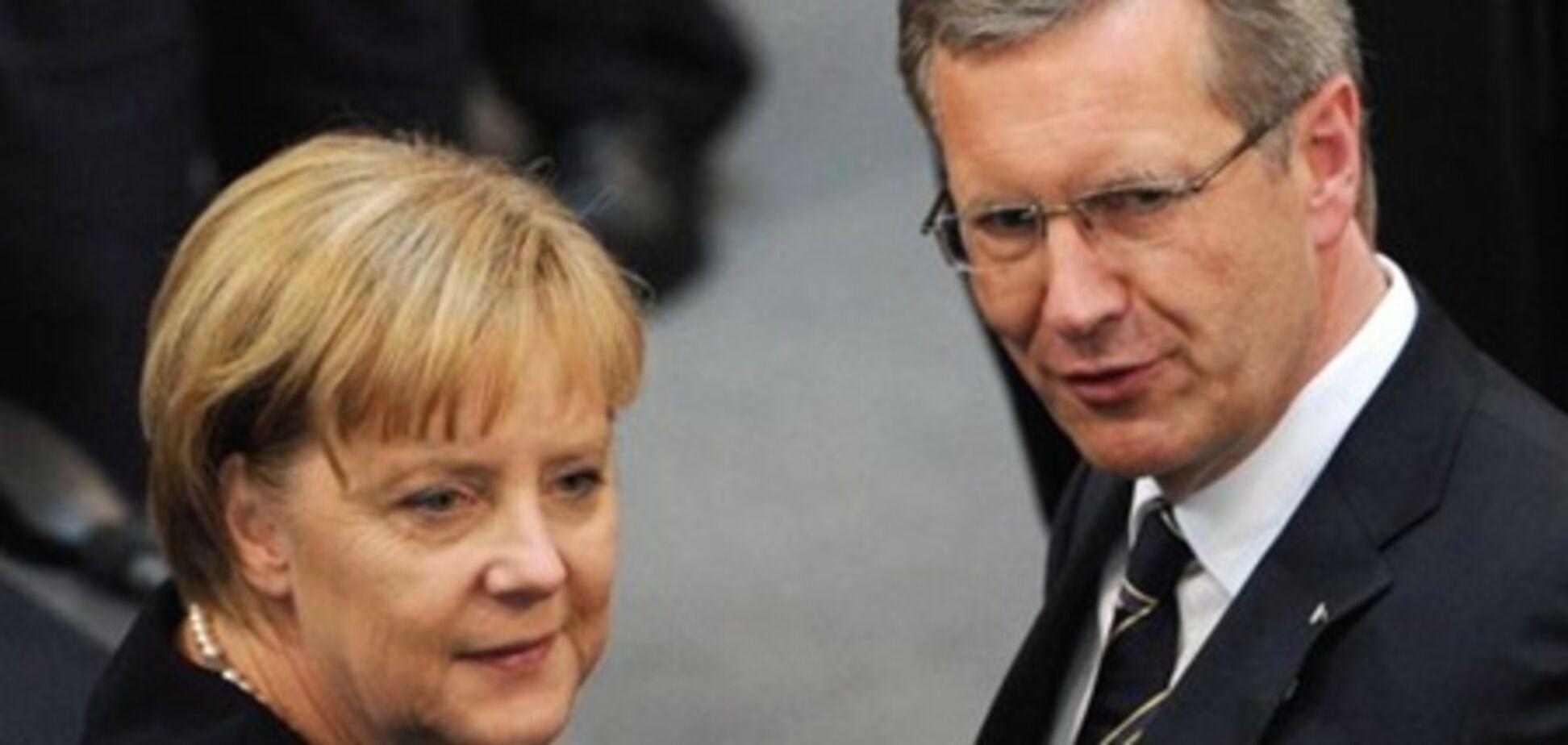 Меркель заступилася за президента Німеччини