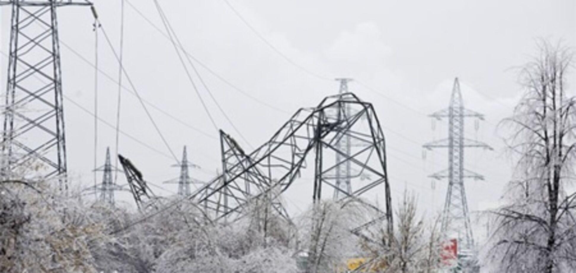 Непогода обесточила 58 населенных пунктов Украины