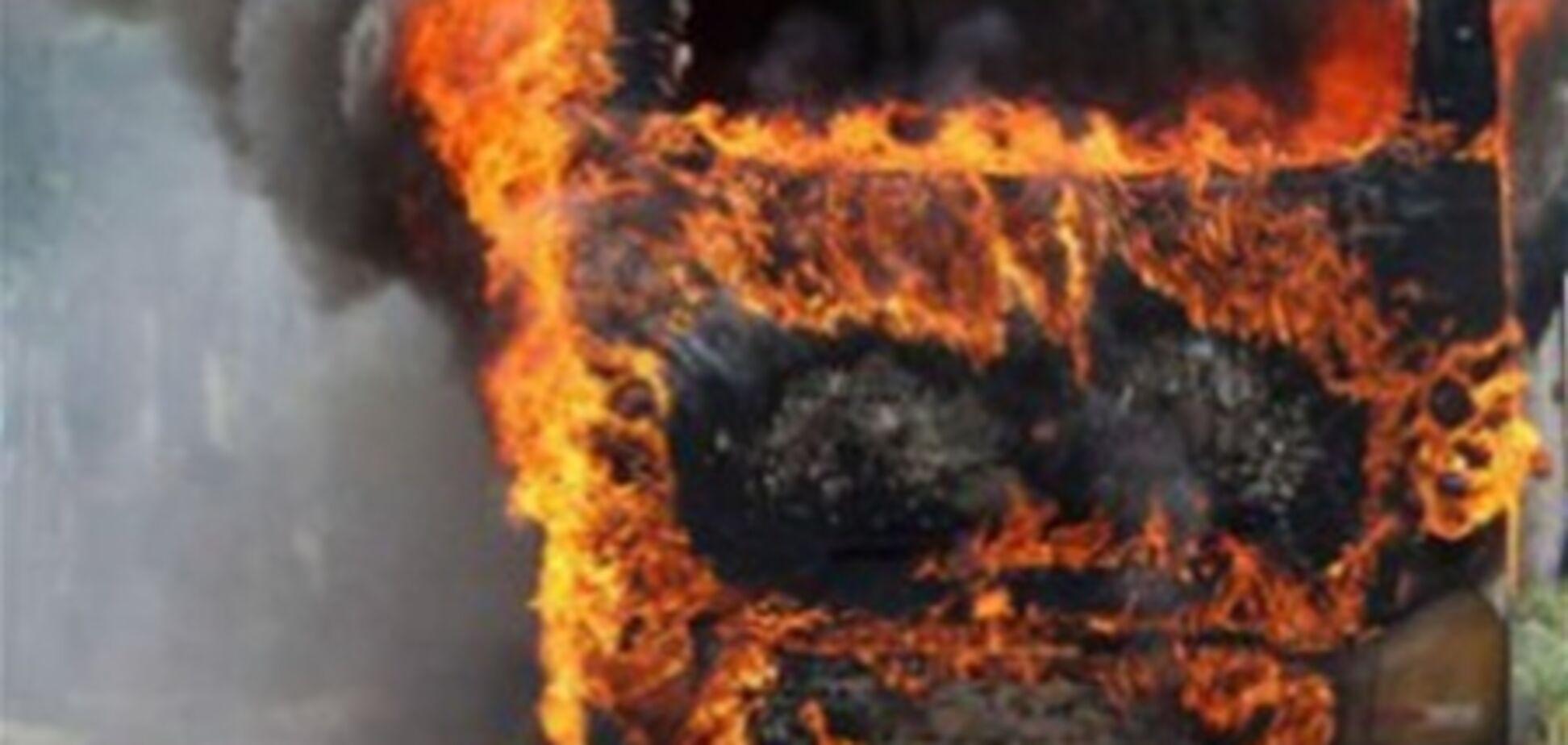 В Херсоне сгорели четыре маршрутки