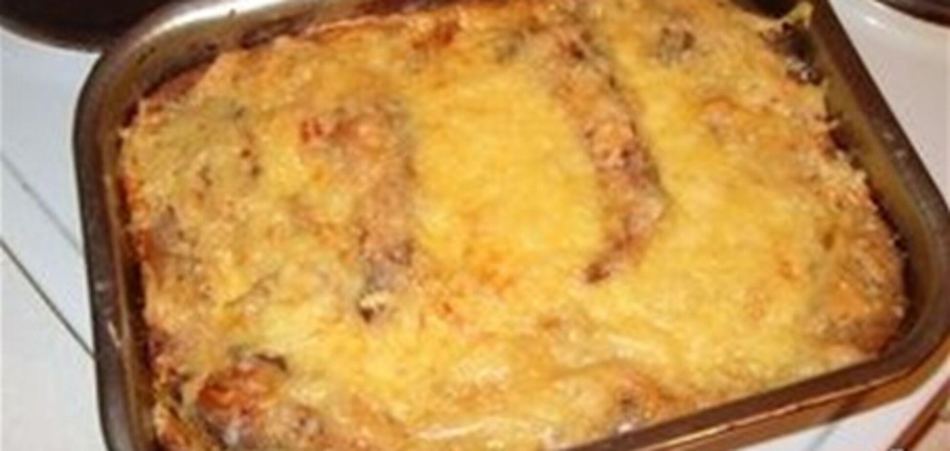 Карп запеченный под сыром