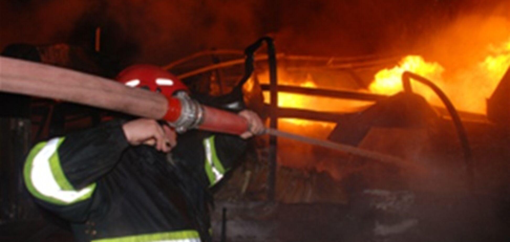 Во Львове ночью горела больница. Видео