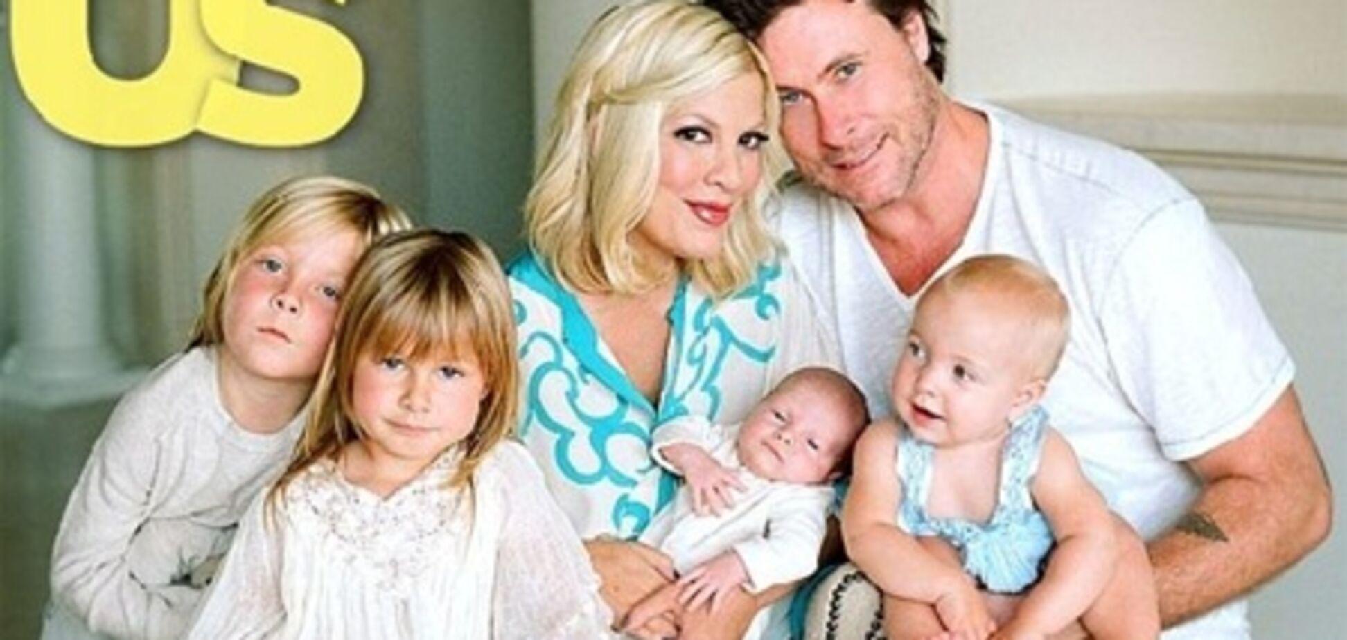 Семейство Спеллинг расположилось в US weekly. Фото