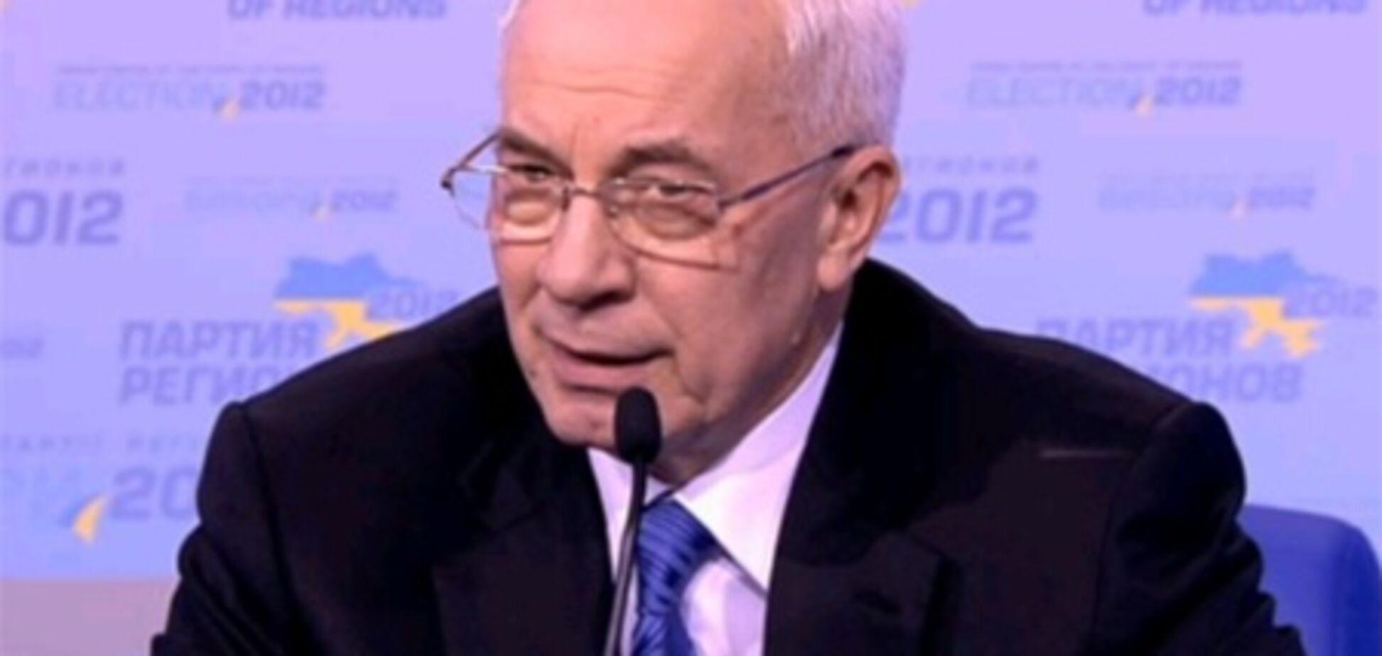 Азаров: уже цілком очевидно, що Партія регіонів перемогла