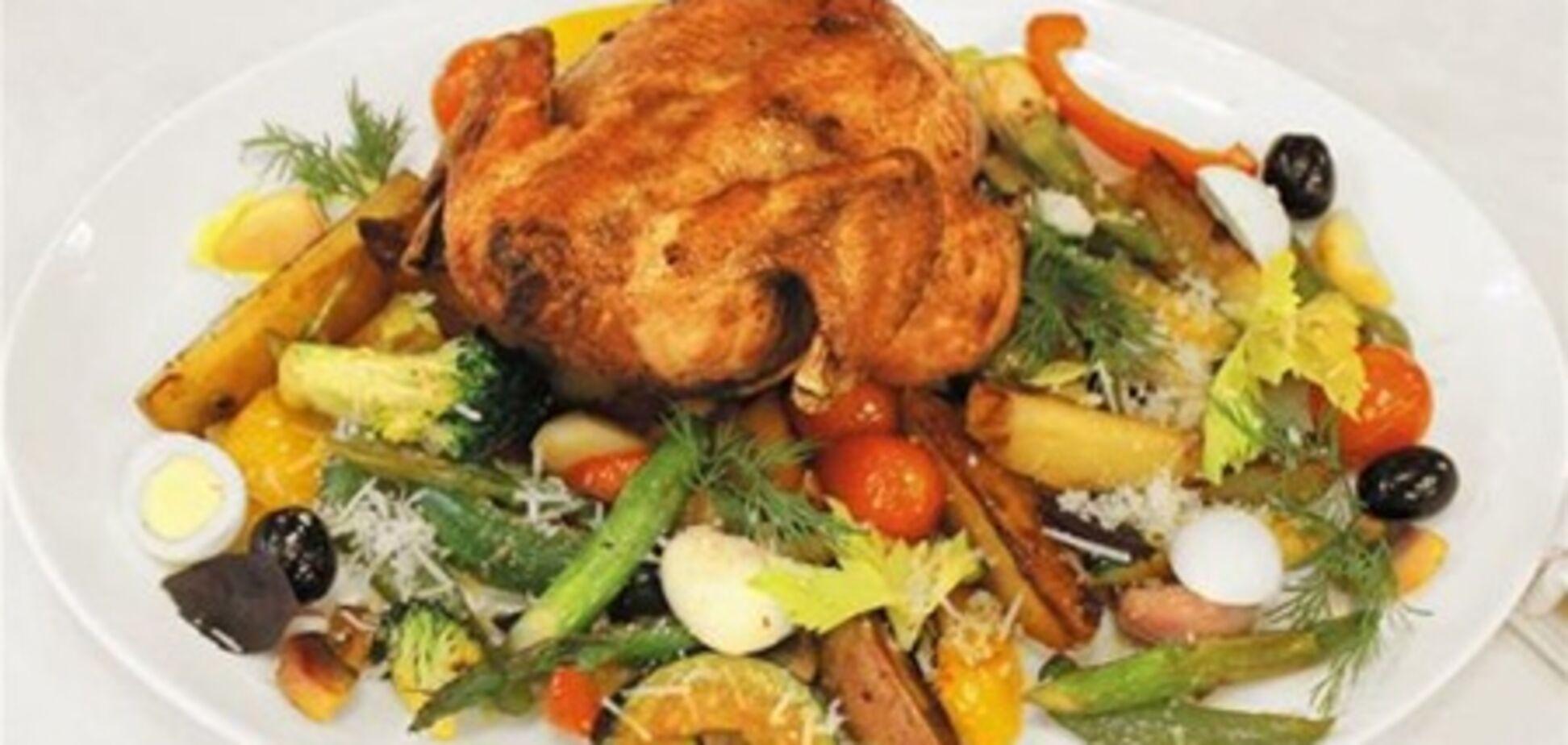 Цыпленок по-итальянски с овощами и картофелем