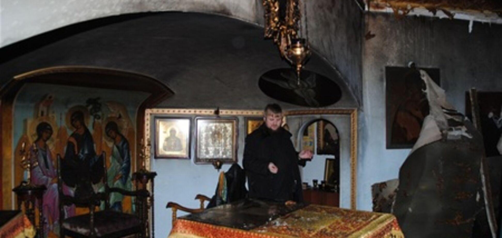 Пожар возле Десятинной Церкви: монахи подозревают язычников