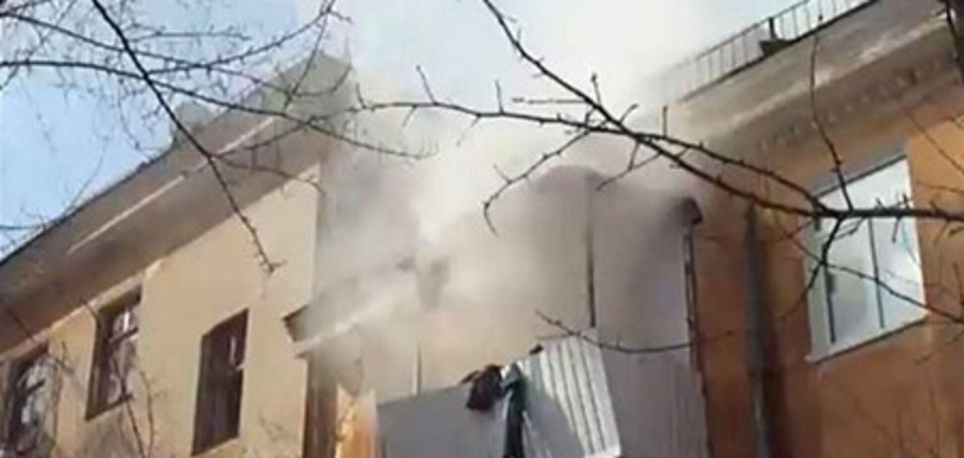 В Днепропетровске взорвалась квартира. Видео
