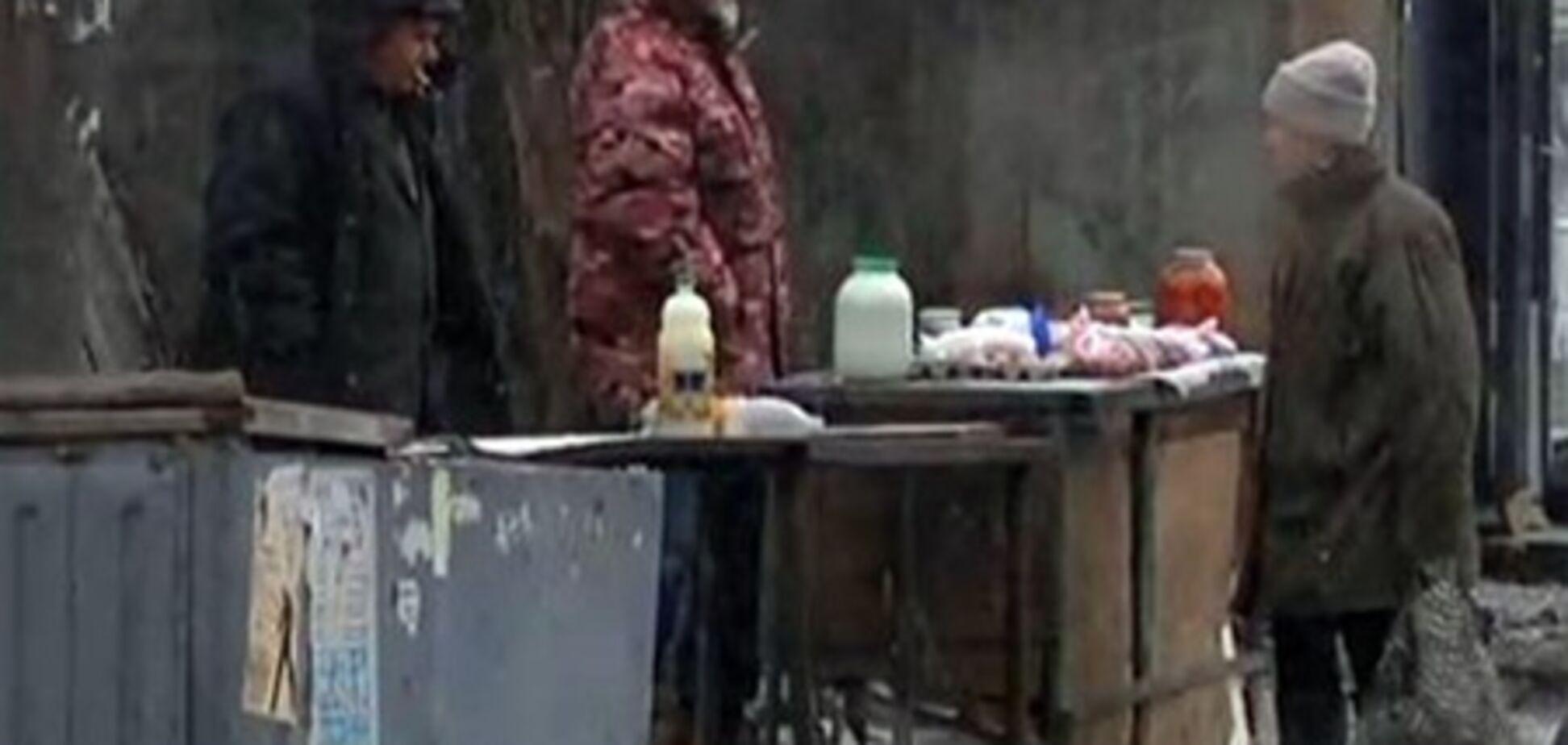 В Днепропетровске расстреляли очередь за молоком. Видео