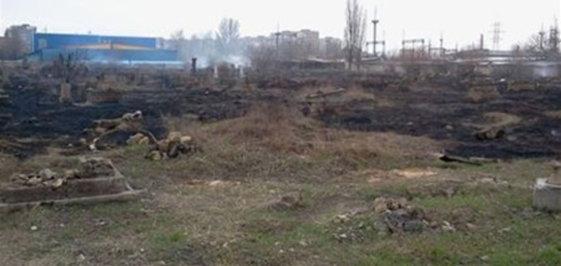 В Херсоне горело еврейское кладбище