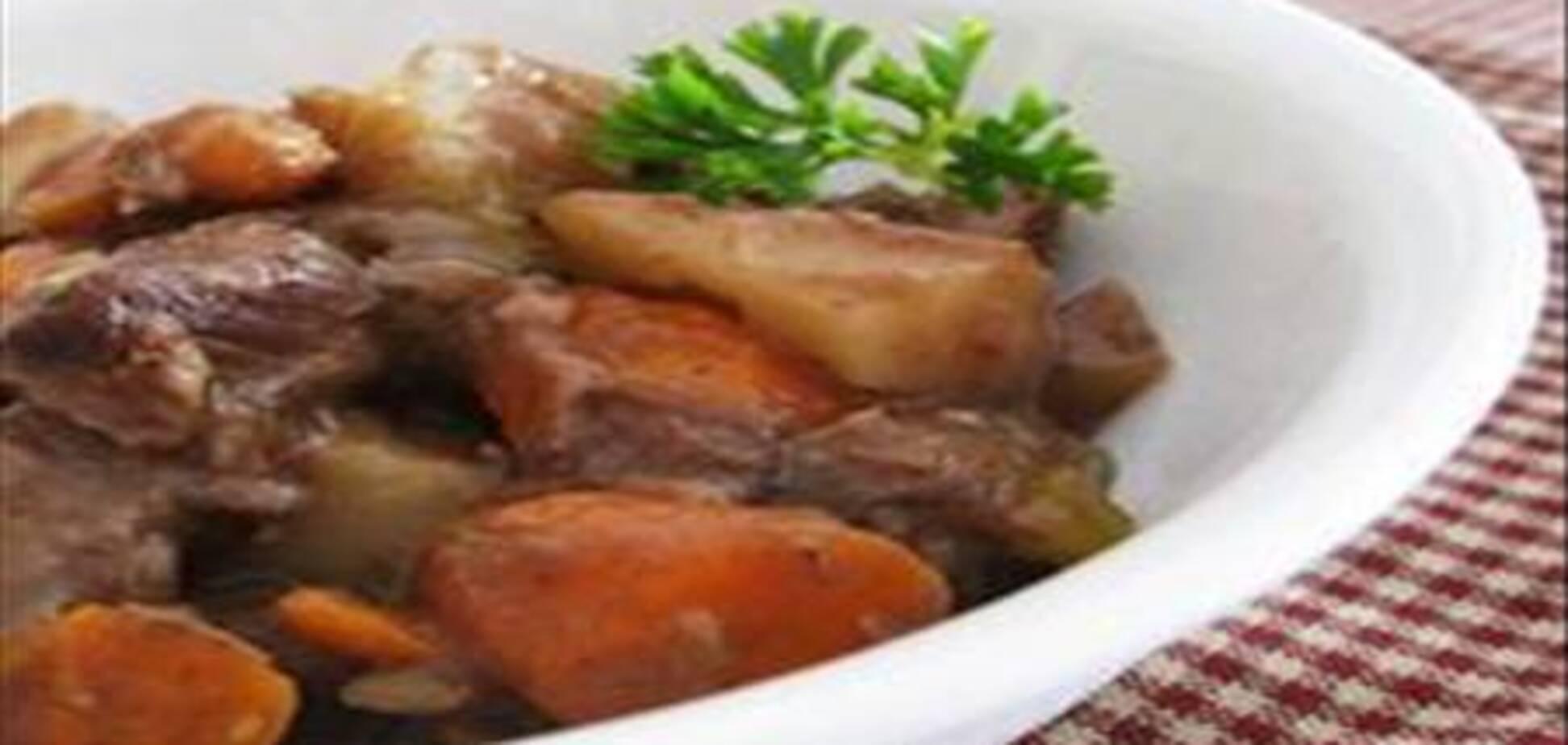 Тушеная говядина в сладко-картофельной подливе