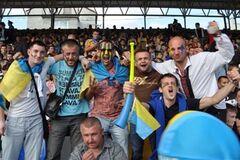 Матч Україна – Франція в тернопільській фан-зоні. Фото