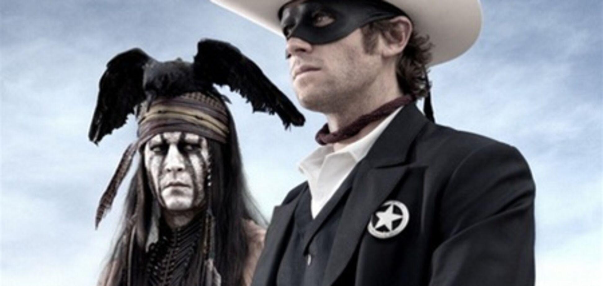 Джонни Депп на съемках 'Одинокого рейнджера'