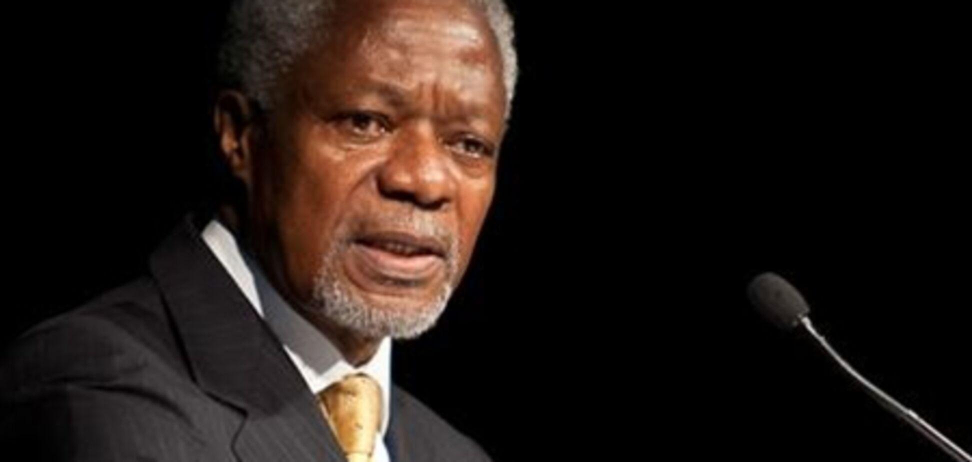 Аннан: только политическая передача власти разрешит кризис в Сирии