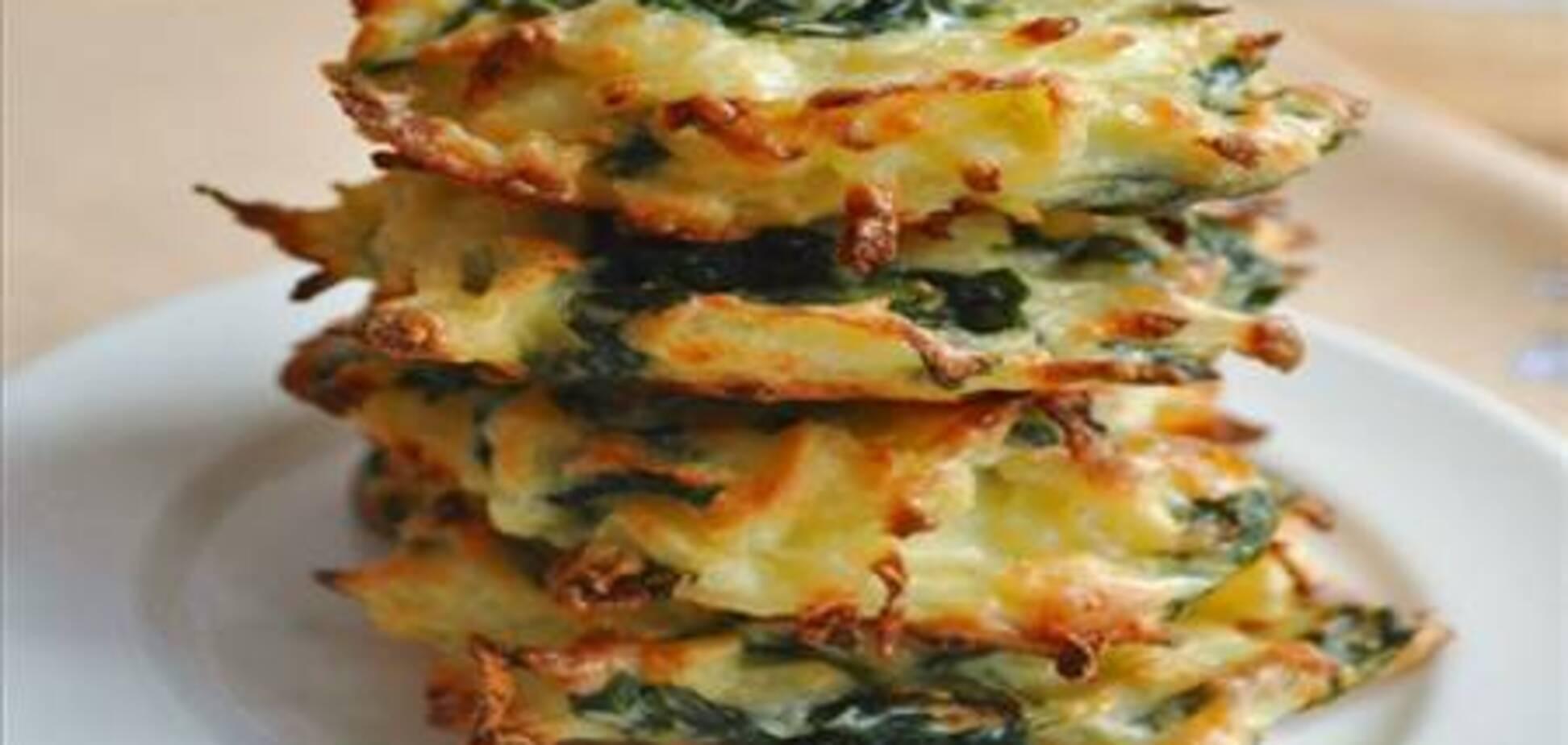 Картофельные оладьи в духовке