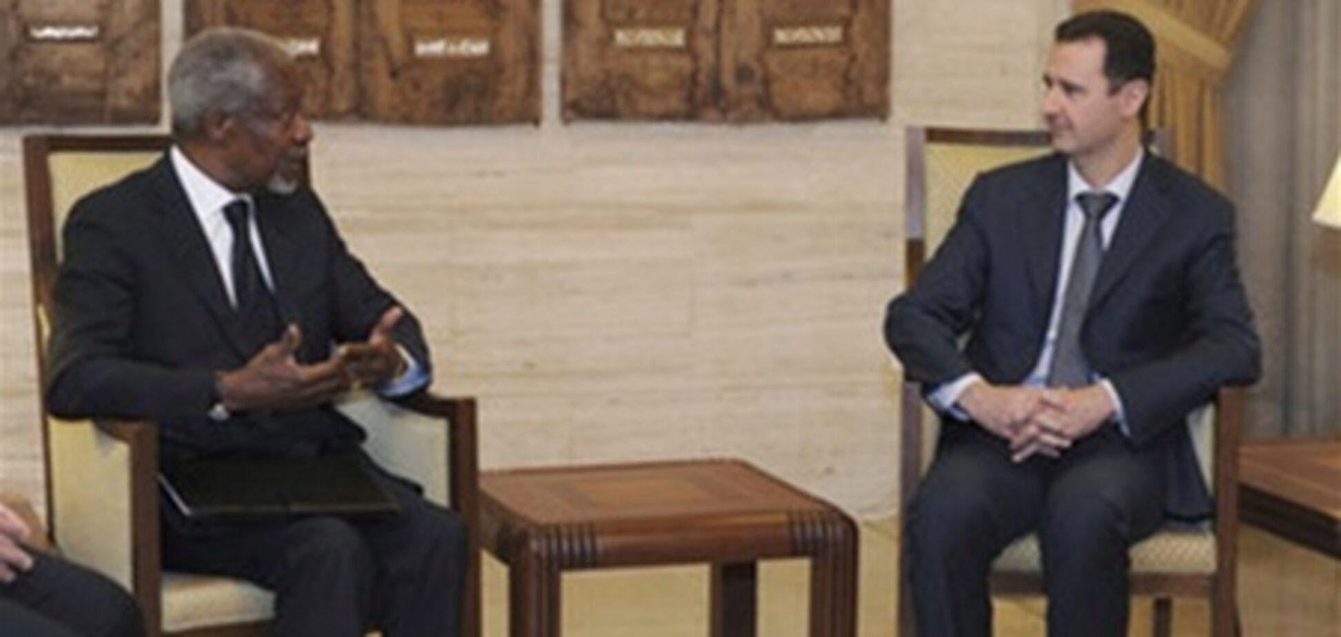 Аннан: рано или поздно Асаду придется уйти в отставку