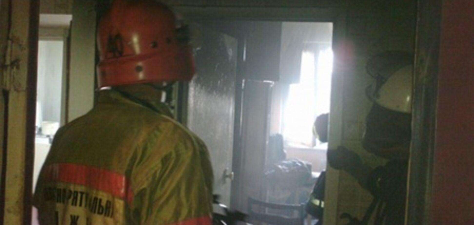 В киевской десятиэтажке горела квартира