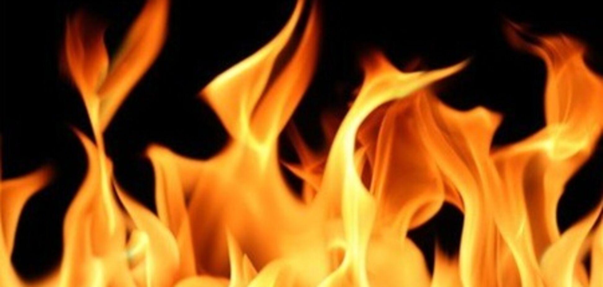 На Донетчине горел дом