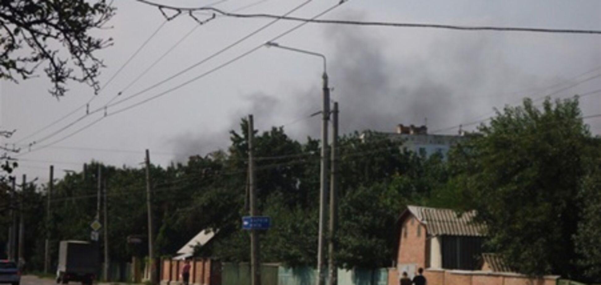 В Полтаве горел завод 'Полтавахиммаш'
