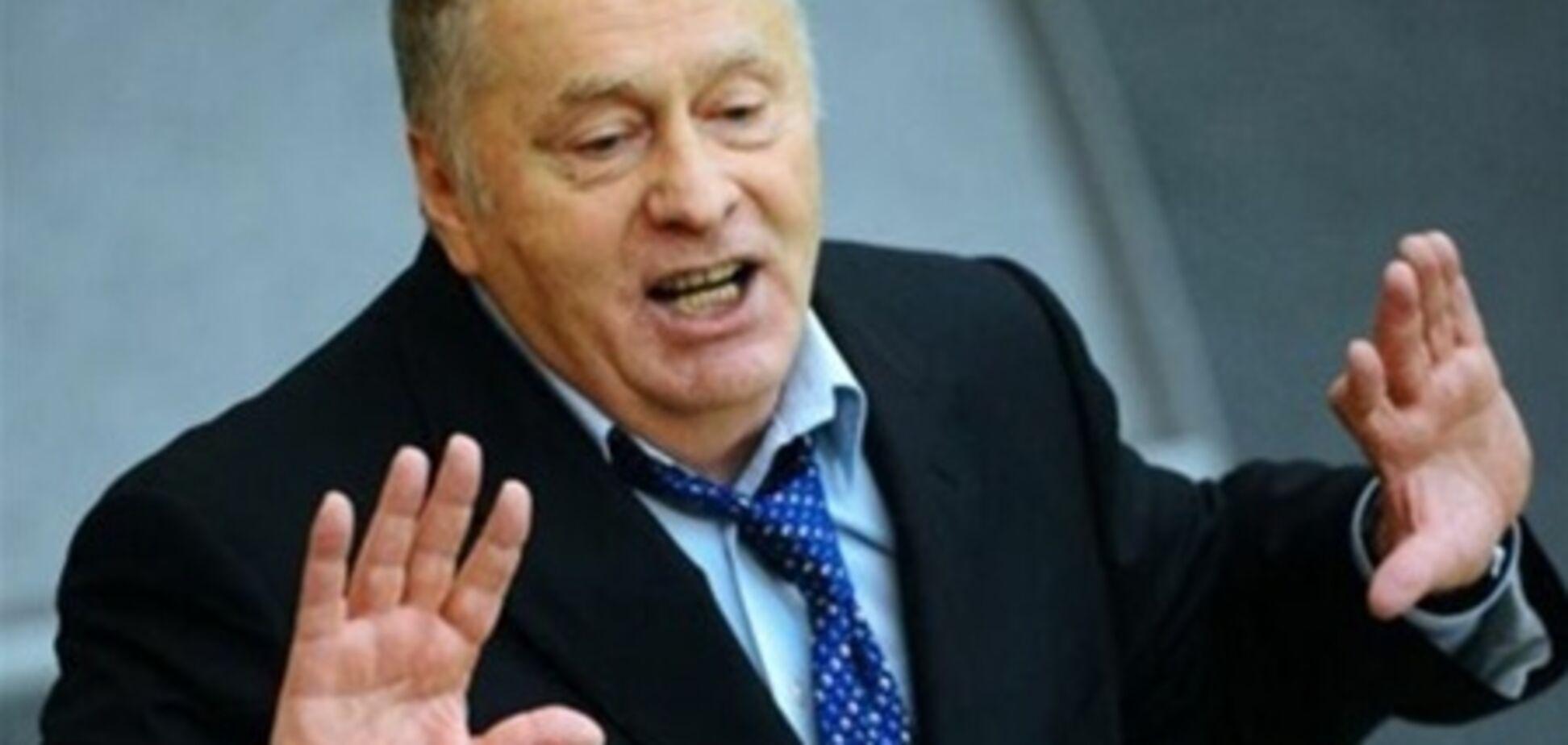 Жириновского в Украине забросали капустой. Видео