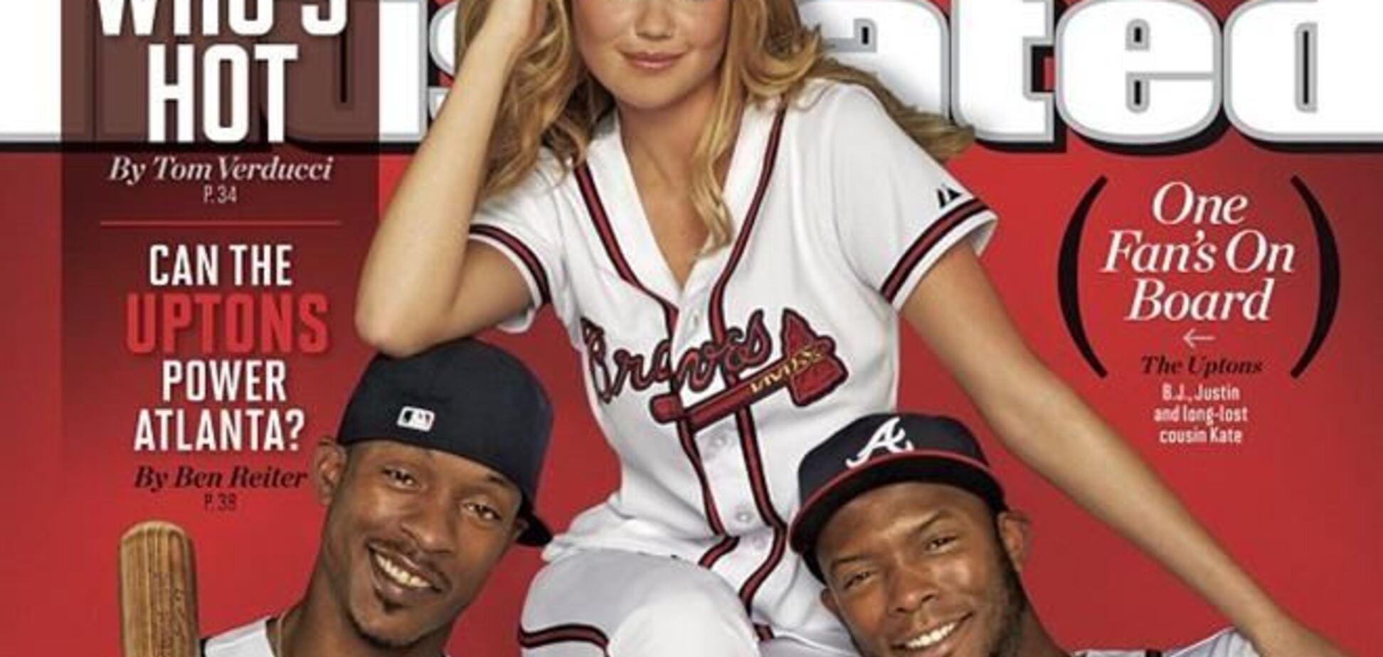 Кейт Аптон позирует со звездами бейсбола на страницах Sports Illustrated