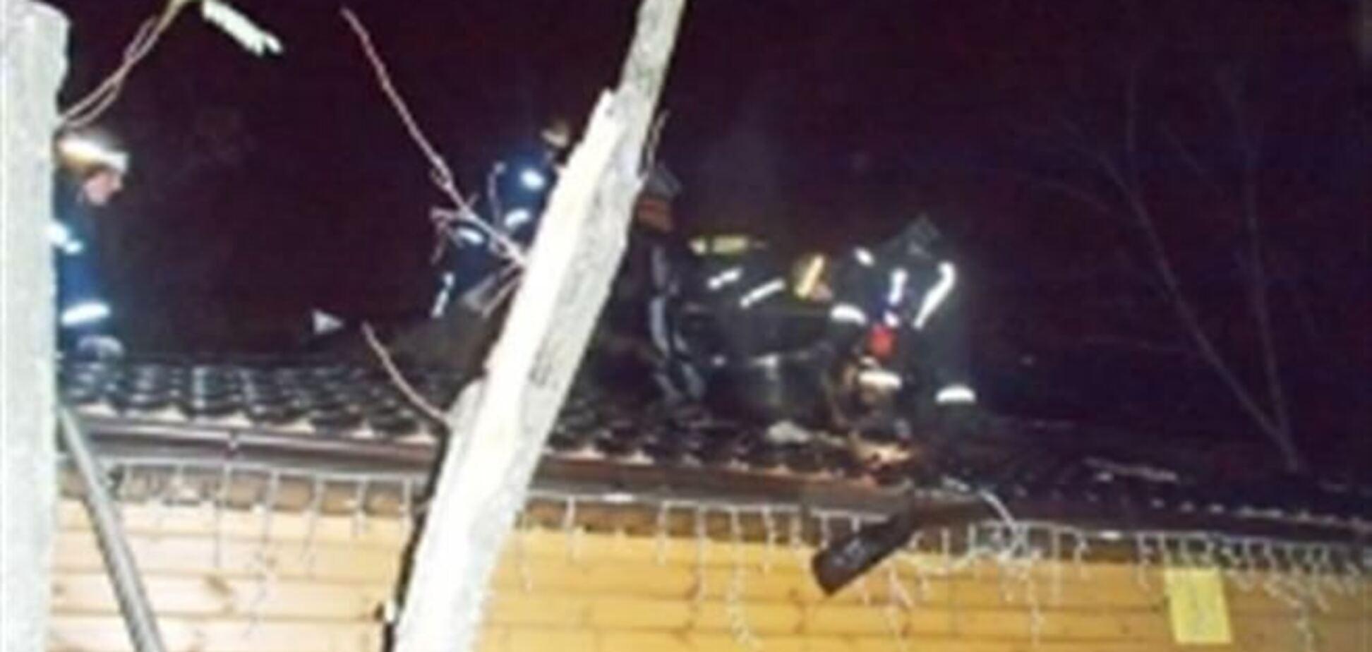 В Киеве на Троещине горел ресторан
