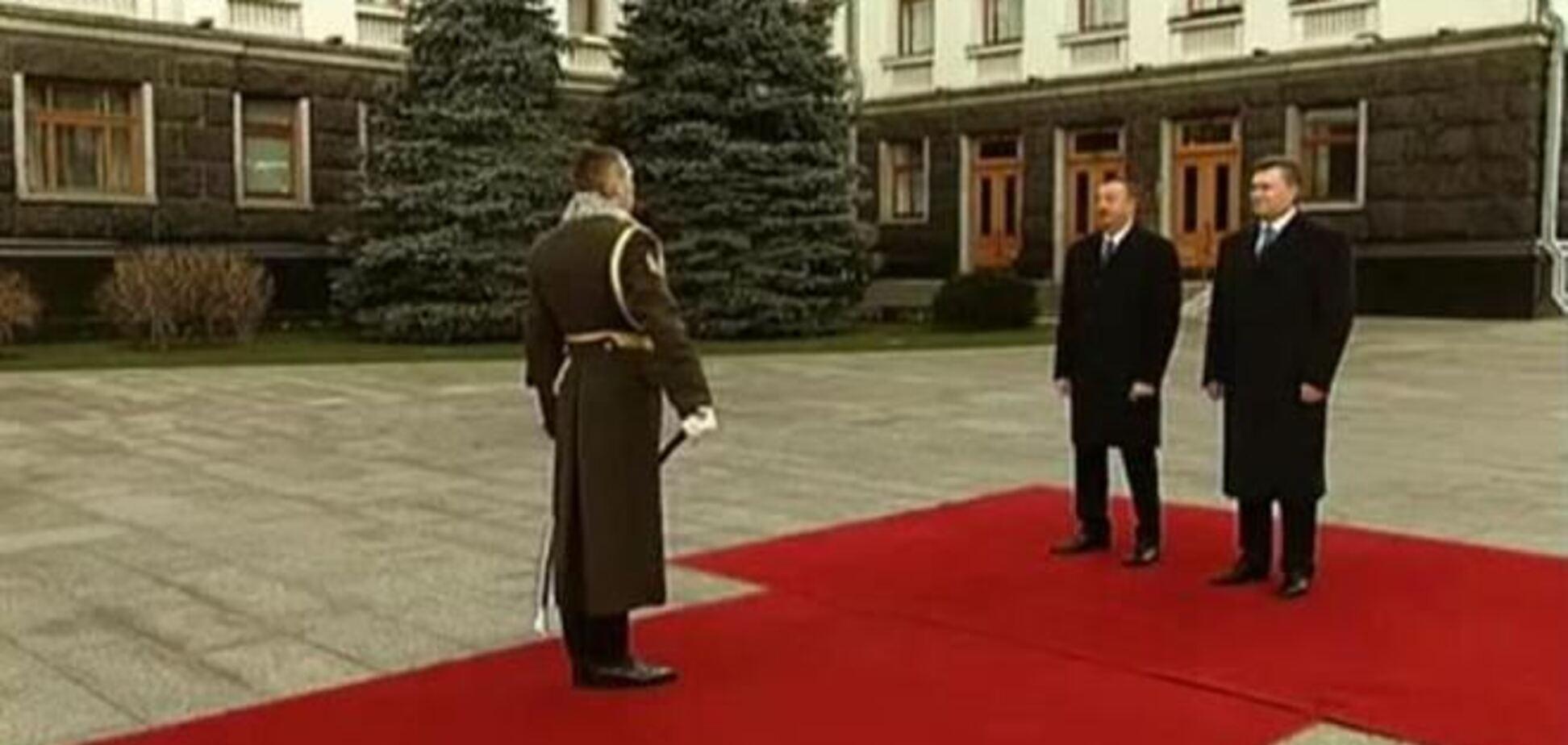 На встрече Януковича и Алиева произошел конфуз