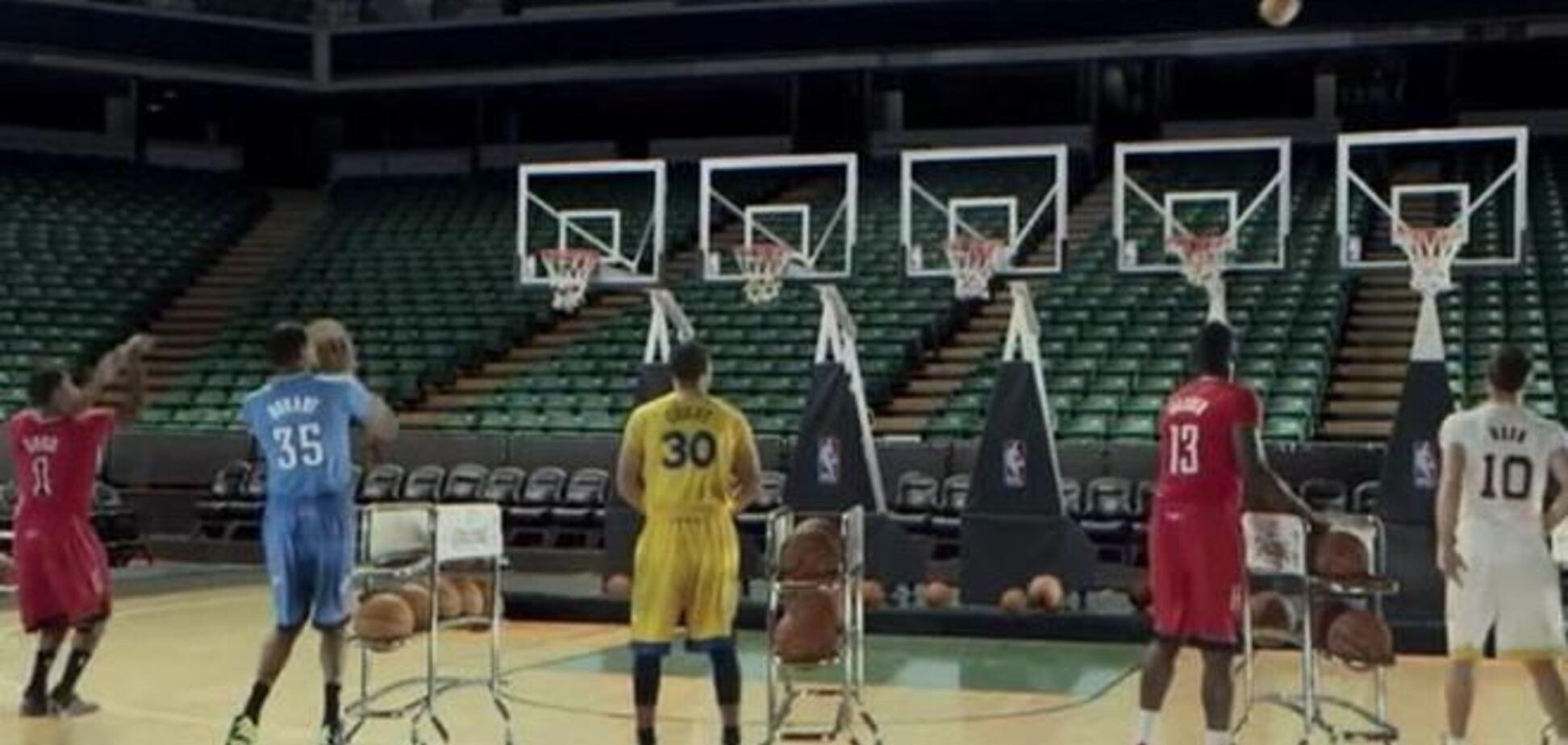 Звезды NBA сыграли Jingle Bells при помощи мячей