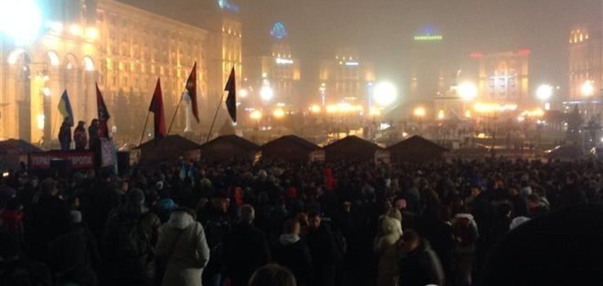 Украинцы передали участникам Евромайдана в Киеве более 17 тыс. грн