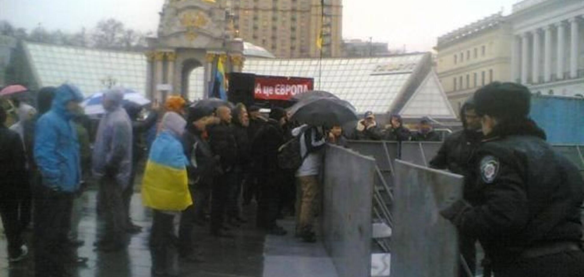 Евромайдан в Киеве: милиция расчищала место для ёлки