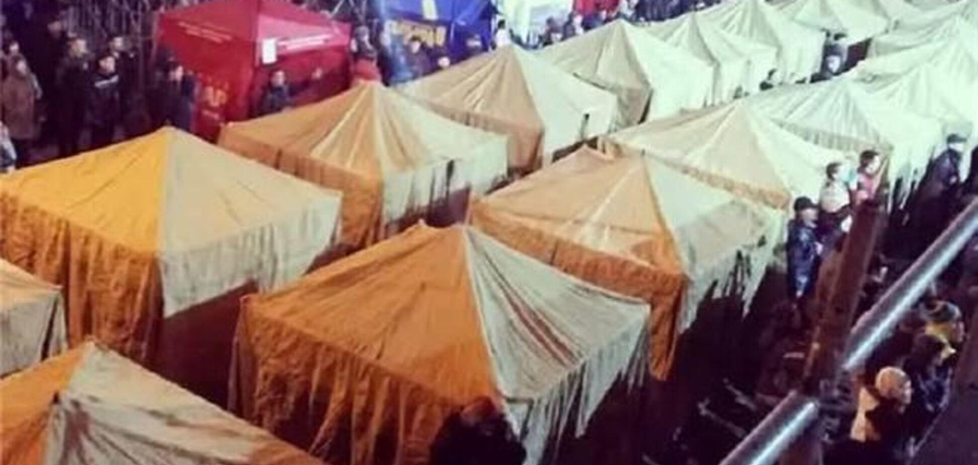 Палаточный городок Евромайдана просит поддержать его