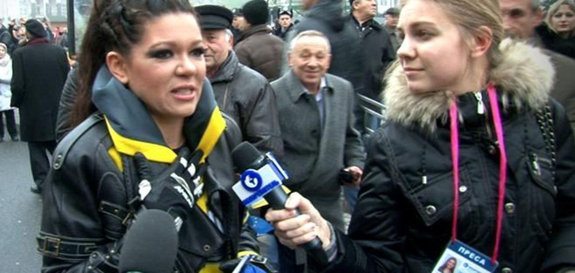 Руслана на евромитинге: я за євро-бачення України