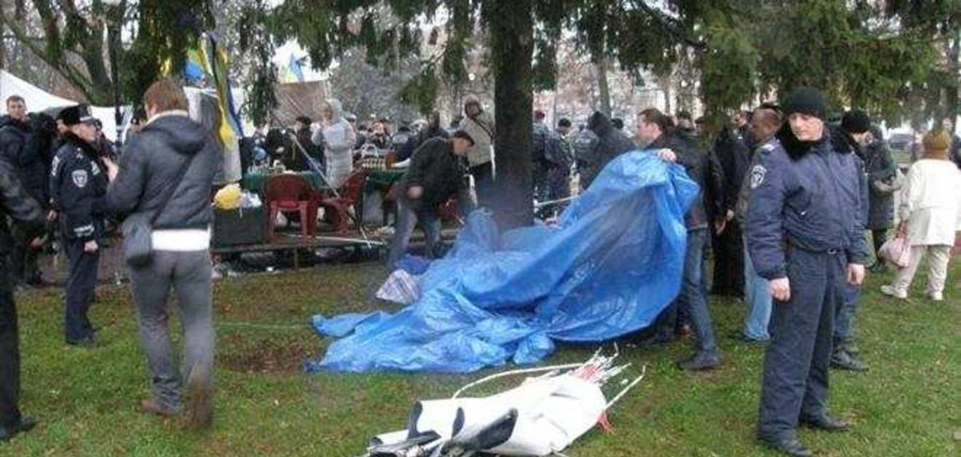 В Чернигове Евромайдан продолжится, несмотря на снос палаток