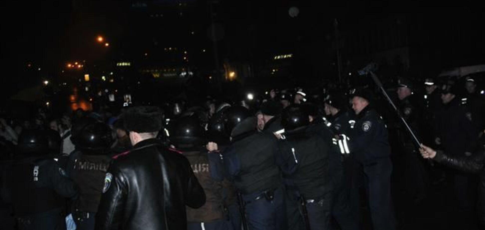 'Беркут' покинул митинг на Европейской площади