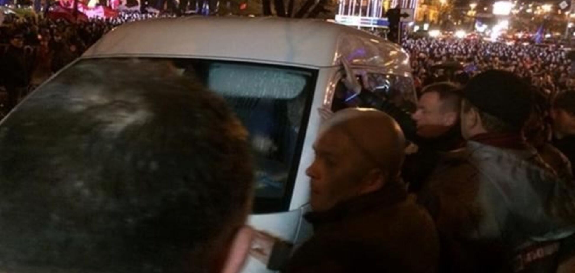Нападение на автомобиль СБУ: открыты два производства