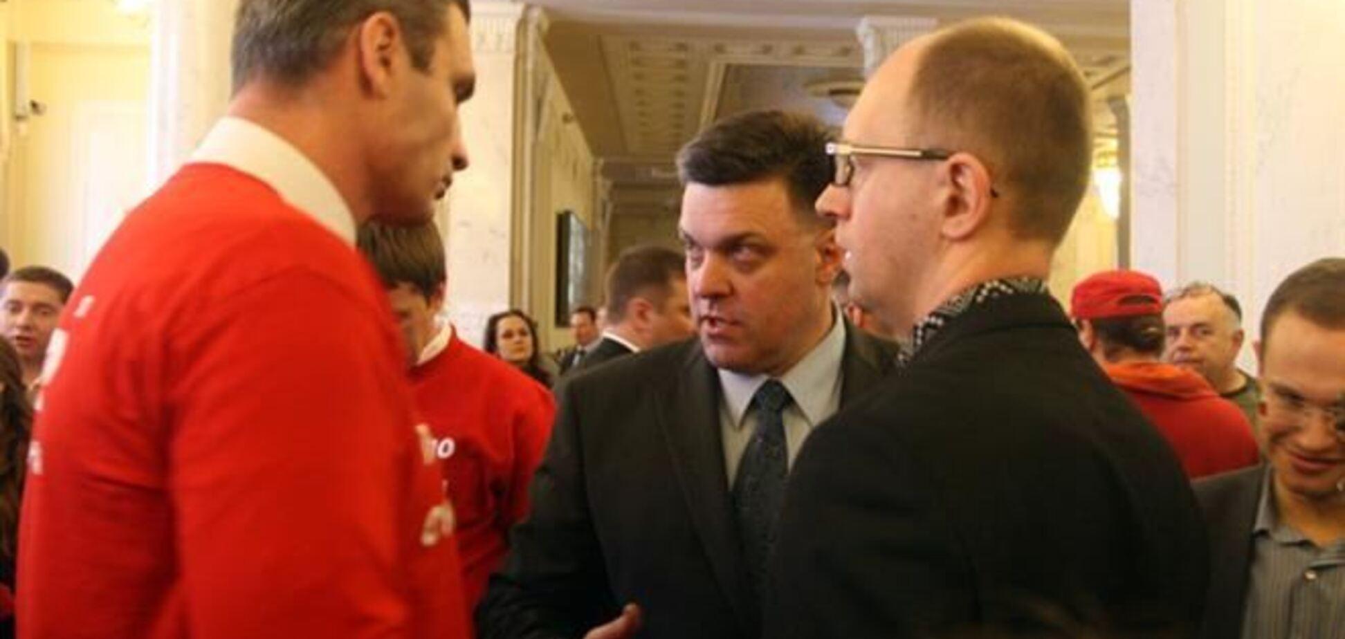 Яценюк, Кличко и Тягнибок поедут в Вильнюс