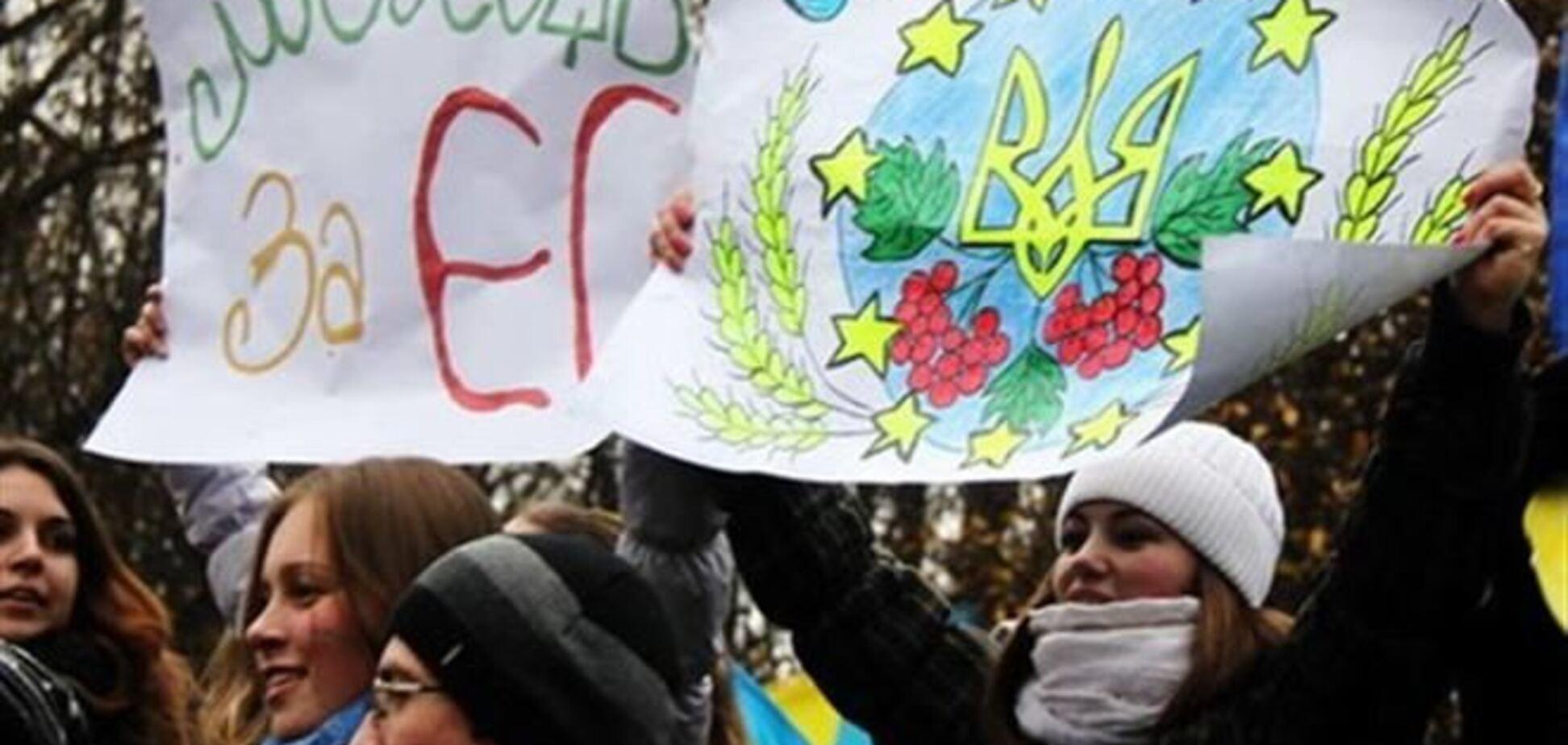 Евромайдан хочет соединиться с ЕС живой цепью