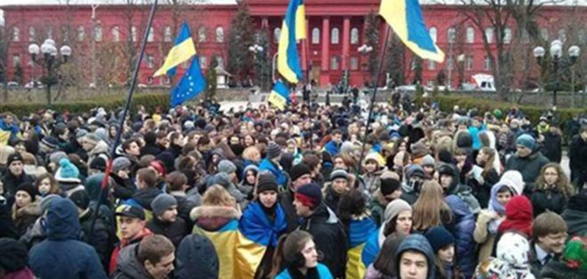 Студенты объявили всеобщую мобилизацию и выйдут на Евромайдан
