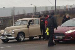 Top Gear в Киеве гонял на 'скорой' и 'Победе'