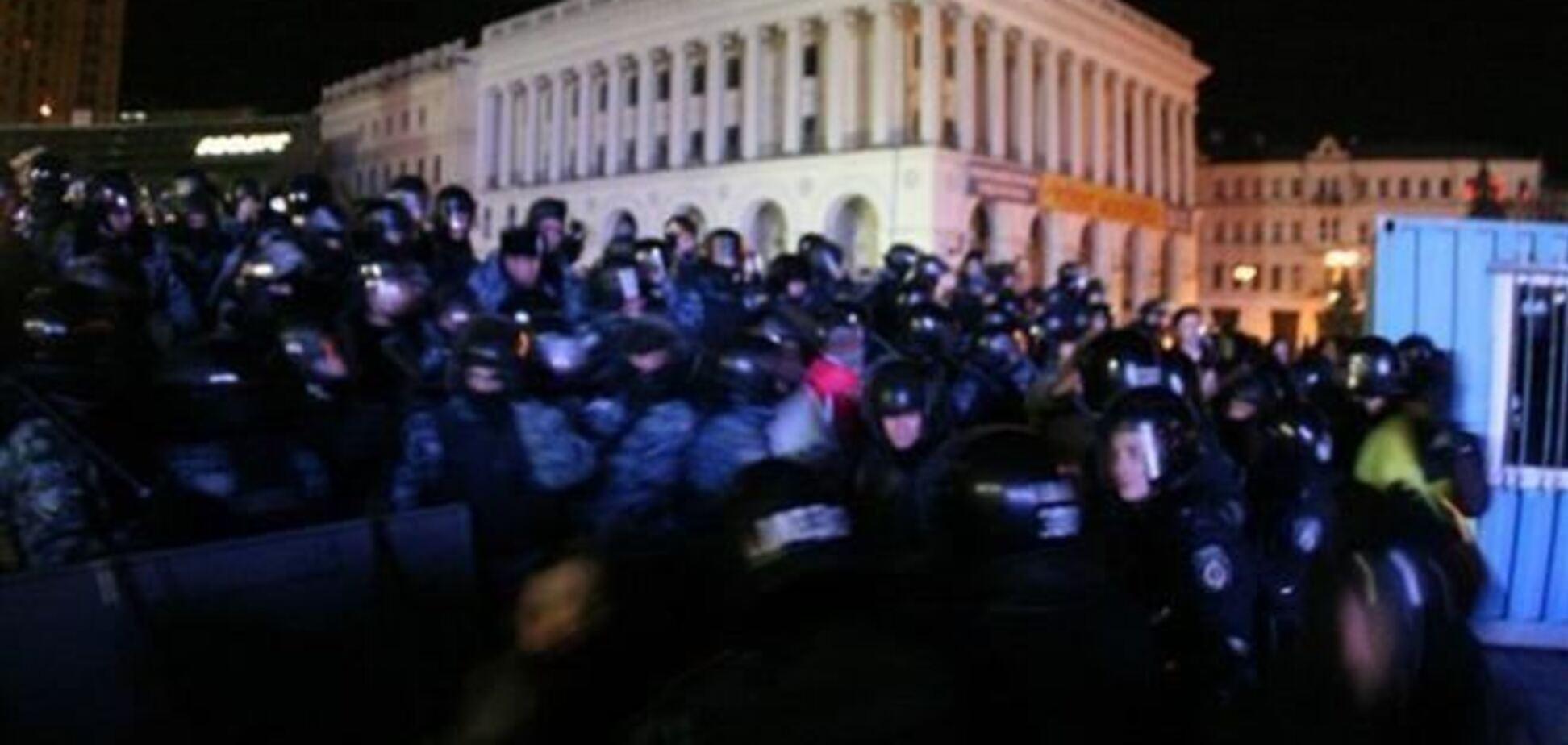 Кровавая зачистка 'Беркутом' Евромайдана в Киеве