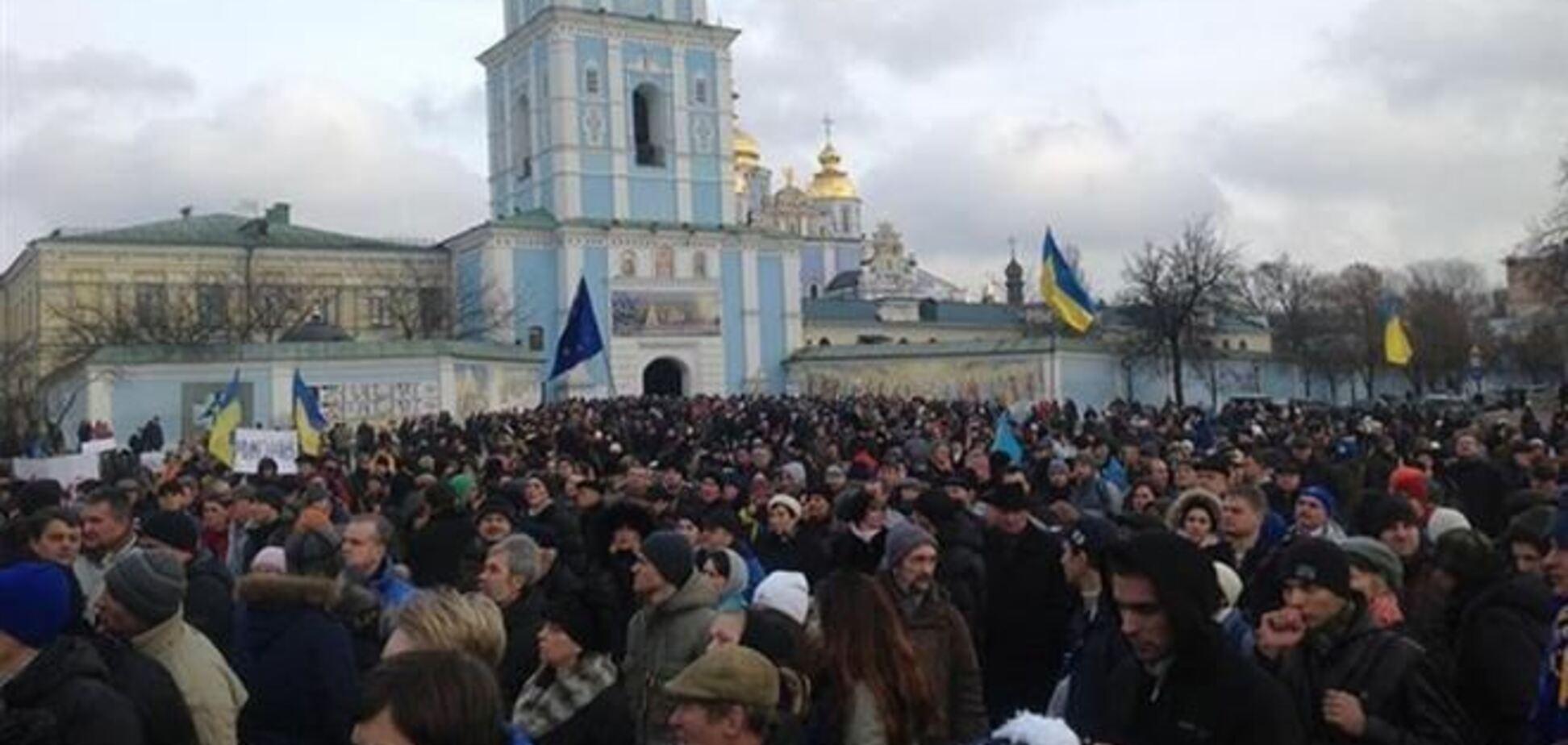 Большой митинг сторонников евроинтеграции назначен на 12:00 1 декабря