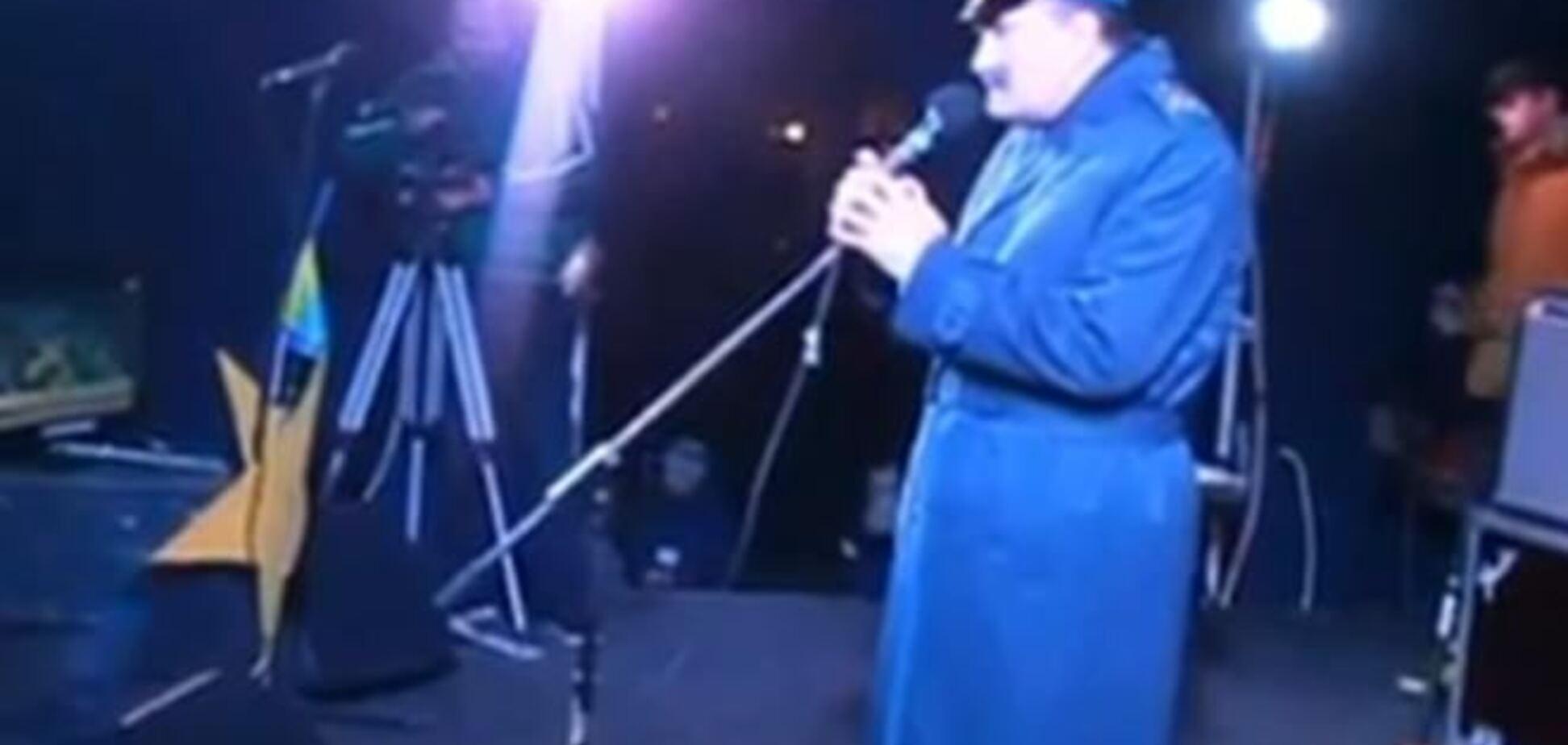 Во Львове офицеры с трибуны выражают свою солидарность с митингующими