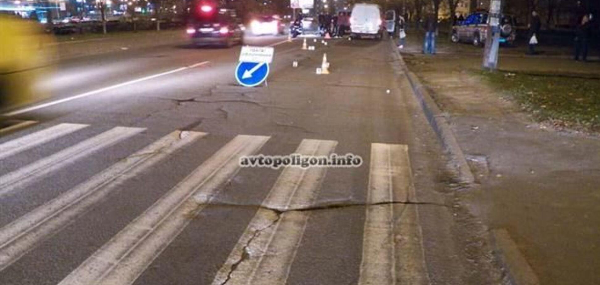 В Киеве 'ГАЗель' сбила насмерть пешехода на зебре