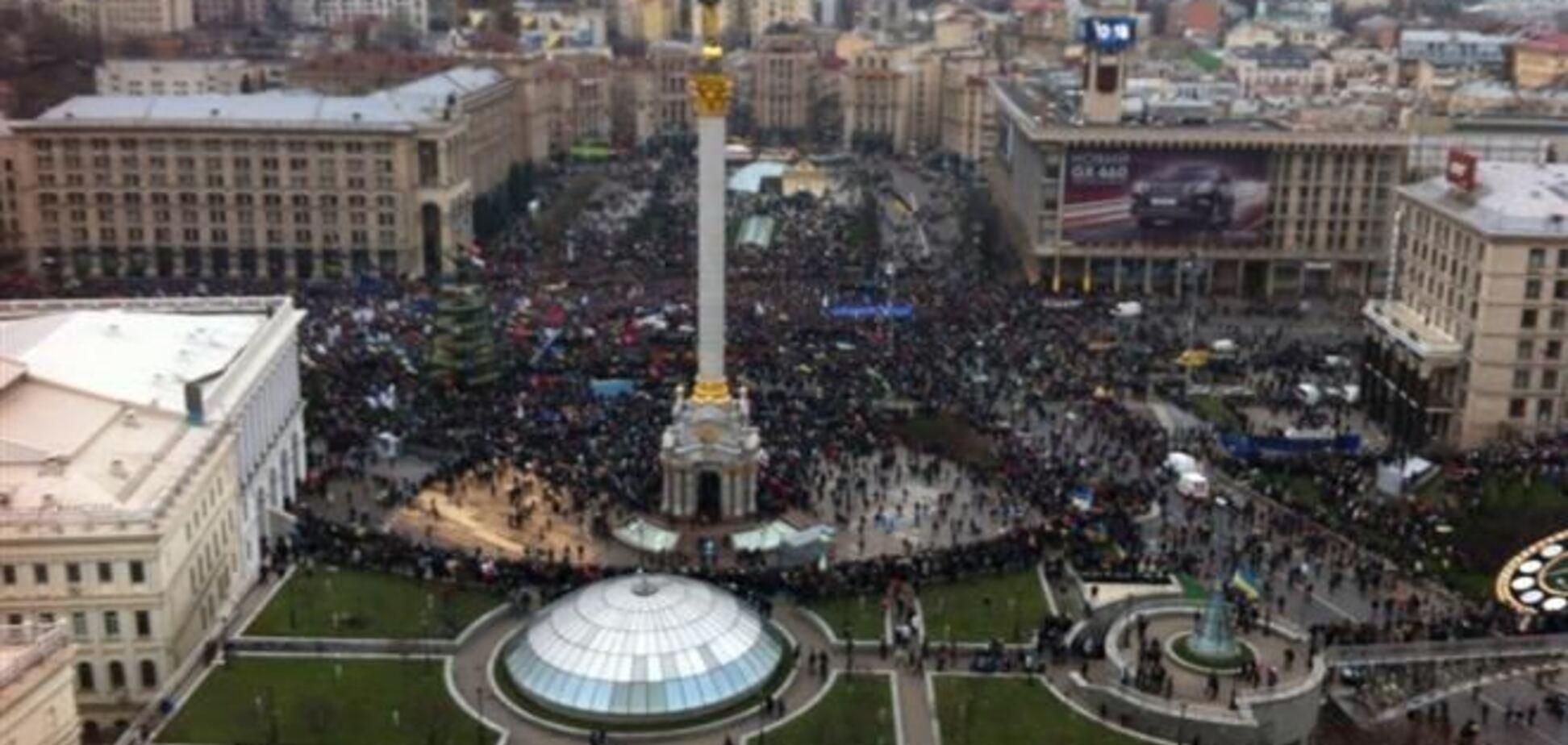 Митингующие поймали провокаторов, напавших на КГГА